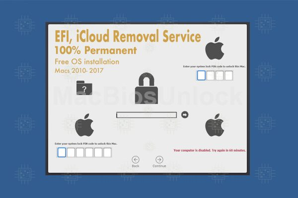 EFI removal service. Fix corrupted Firmware and unlock.