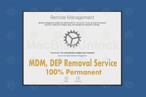 Our MDM, DEP removal service.