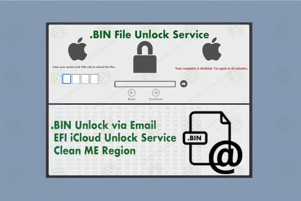 Unlock BIN file via Email